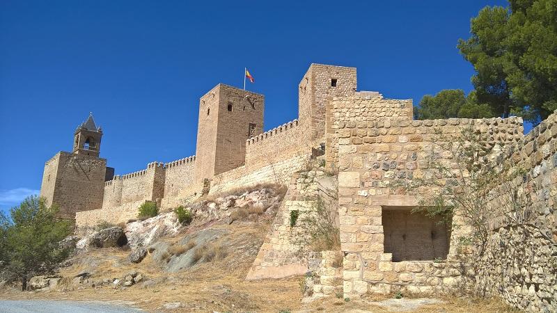 Die seinerzeit unbezwingbare Südseite der Alcazaba (Festung) Antequeras