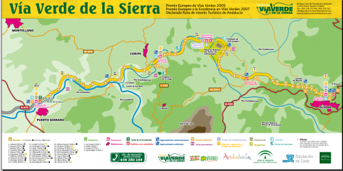 Karte Via Verde
